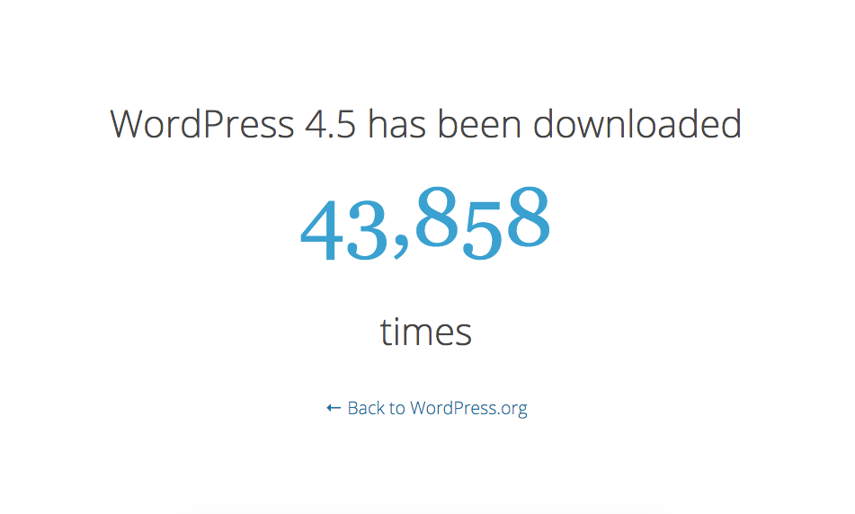WordPress 4.5 download counter