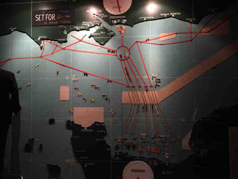 the map room at the Allied headquarters at Southwick House