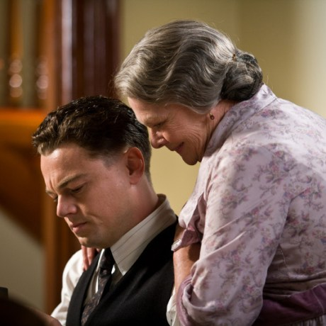 "(L-r) LEONARDO DiCAPRIO as J. Edgar Hoover and JUDI DENCH as Annie Hoover in Warner Bros. Pictures' drama €œ""J. EDGAR"",€ a Warner Bros. Pictures release."