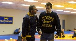 Foxcatcher Movie Left to right: Steve Carell as John du Pont and Channing Tatum as Mark Schultz Photo by Scott Garfield, Courtesy of Sony Pictures Classics