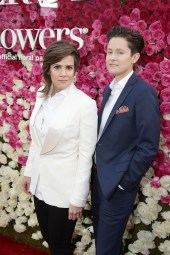 """Cameron Esposito and Rhea Butcher seen at Open Road Presents the World Premiere of """"Mother's Day"""" at TCL Chinese Theatre on Wednesday, April 13, 2016, in Hollywood. (Photo by Steve Cohn/Invision for Open Road Films/AP Images)"""