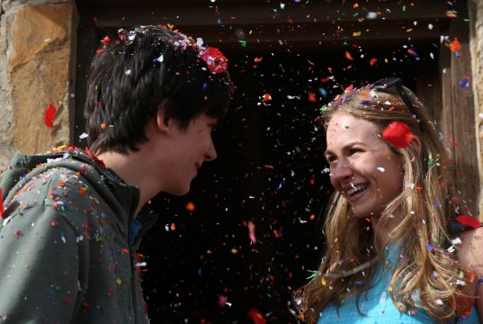 The Space Between Us Trailer - (L to R) ASA BUTTERFIELD and BRITT ROBERTSON star in THE SPACE BETWEEN US.