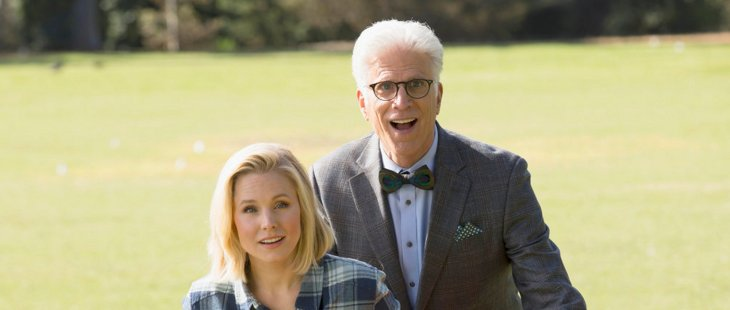 "THE GOOD PLACE -- ""Everything Is Fine"" Episode 101-- Pictured: (l-r) Kristen Bell as Eleanor, Ted Danson as Michael"