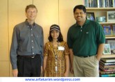 Arfa-Karim and Bill Gates
