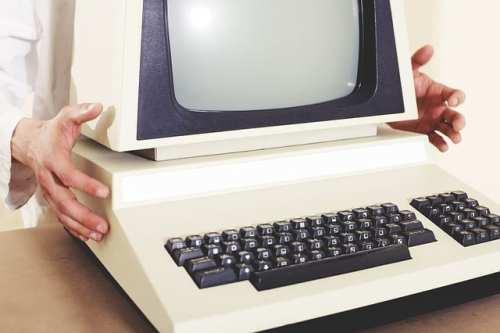 Stjäla från jobbet, gammal dator