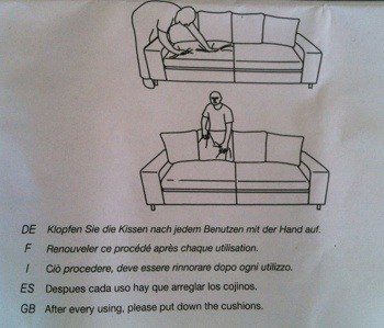 Soffa instruktioner