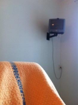 Utsikt från rummet på sjukhuset