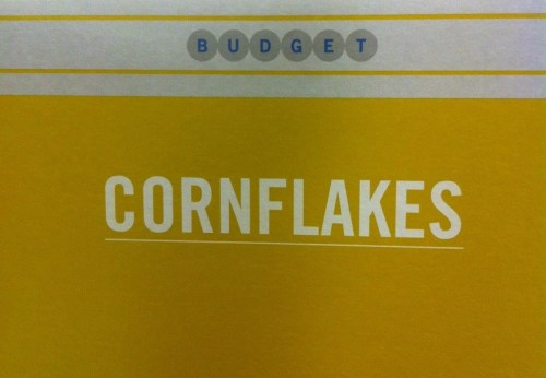 Cornflakes Budget