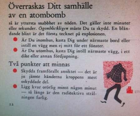 I händelse av krig: Vägledning för Sveriges medborgare: Om kriget kommer. Om ditt samhälle överraskas av en atombomb.