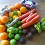 Laddat upp med frukt och grönt!