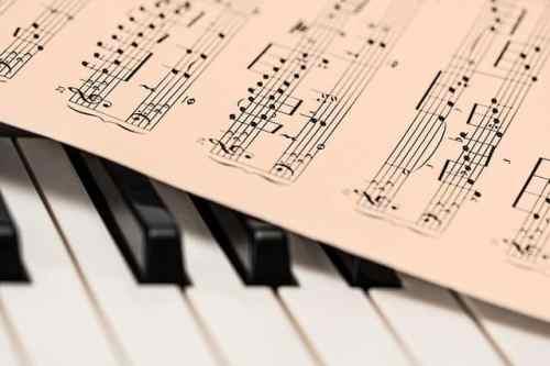Noter och piano, musik