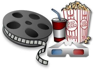 Film, popcorn, läsk och 3D-glasögon