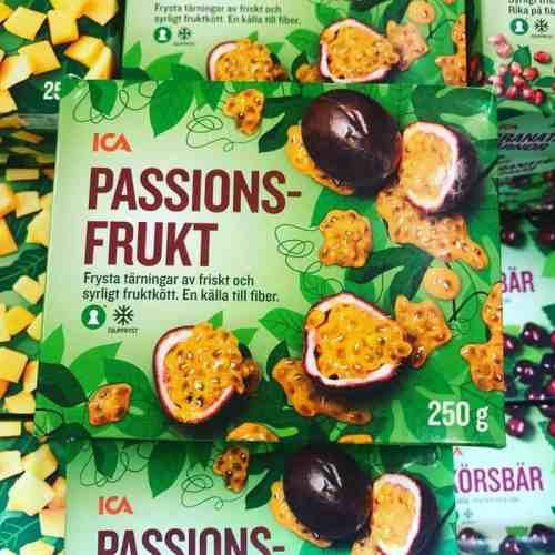 Fryst passionsfrukt