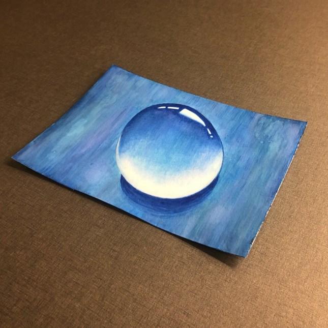 Vattendroppe i akvarellfärg