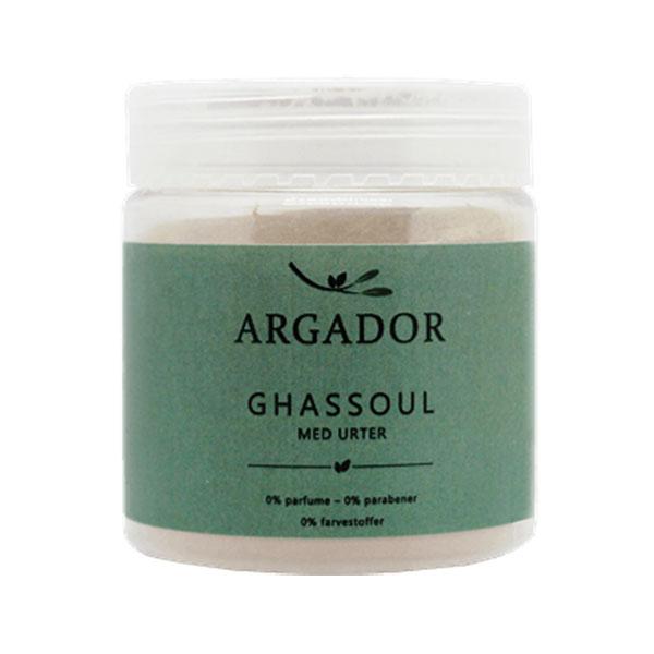 Ghassoul ler med urter fra Argador