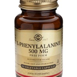 L-Fenilalanina 500mg 50 capsulas vegetales Solgar