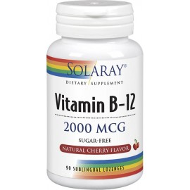 Vitamina B12 2000mcg 90 comp sublingual Solaray