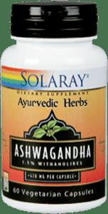 ashwagandha 60 caps Solaray