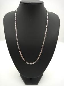 925 silver figaro chain on jewellery stand
