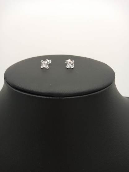 925 silver 5mm cz earrings
