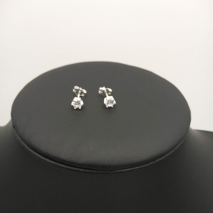 925 silver 4mm cz stud earrings