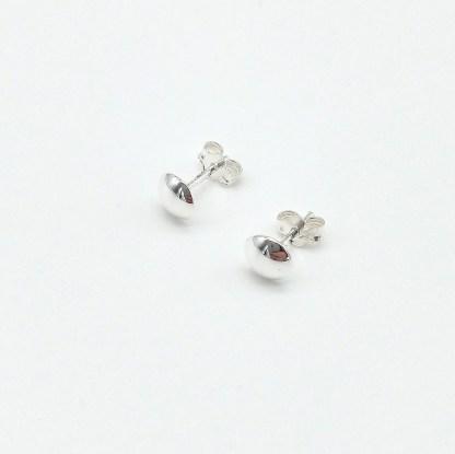 925 silver 6mm plain earrings