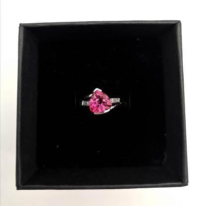 Silver PK Topaz & Diamond Ring In an eco friendly Ring Box