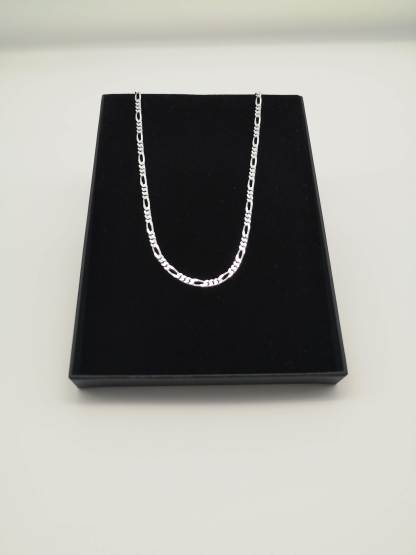 """Sterling Silver 24"""" Figaro Chain"""