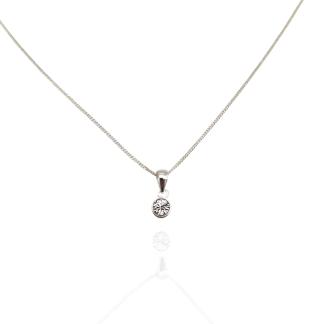 silver white cz birthstone pendant apr