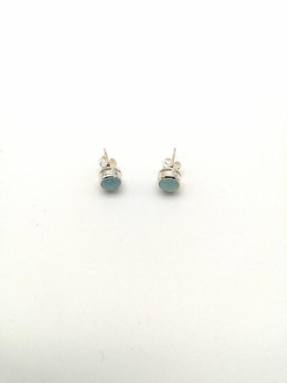 Sterling Silver 6mm Aquamarine Stud Earrings