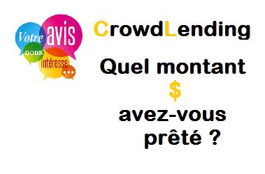 [Sondage] – CrowdLending : Quel montant avez-vous prêté ?