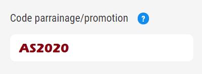 Inscription Tudigo - Code parrainage - Promotion