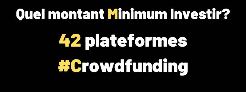 Montant minimum pour investir dans le Crowdfunding