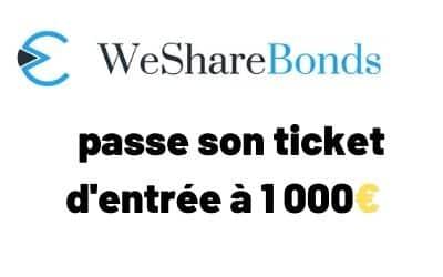[Interview] Wesharebonds passe son minimum d'investissement à 1000€. Poursuite d'une stratégie toujours plus Prémium ?