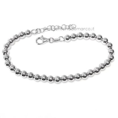 Bracciale palline argento 925