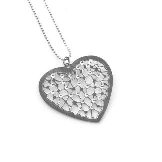 Collana cuore argento cna019