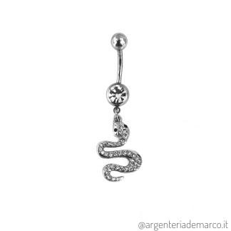 Piercing Ombelico Serpente