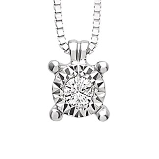 Bliss Collier in Oro Bianco 18kt e Diamante