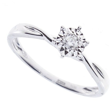 Anello Solitario Diamante
