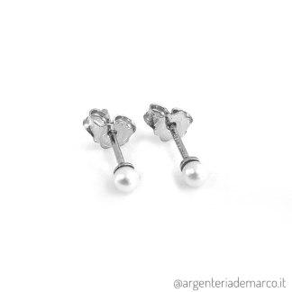 Orecchini Perle in Argento 3mm