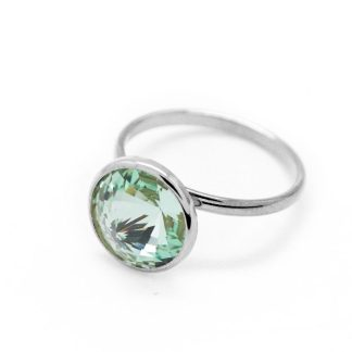 Anello in Argento Cristallo Verde A2522-14A