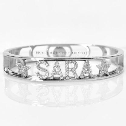 Bracciale rigido con nome Sara