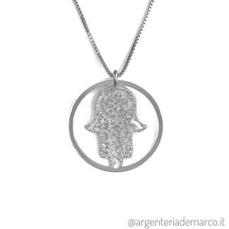 Collana Mano di Fatima in Argento