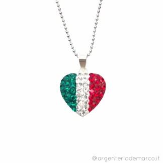 Collana Italia Cuore in Argento 925