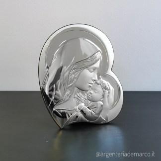 Icona Sacra in Argento 925 Maternità cuore AE0714/3S