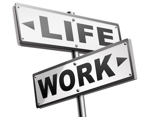 living to work