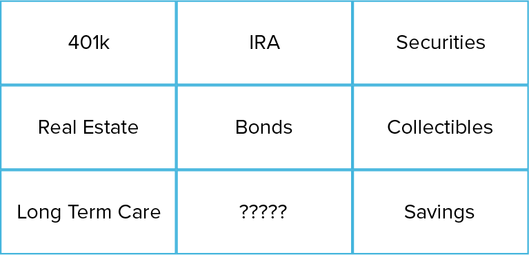 retirement assets in boxes