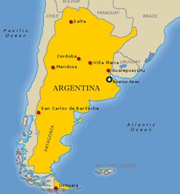 Cartina Argentina Città Più Importanti E Regioni