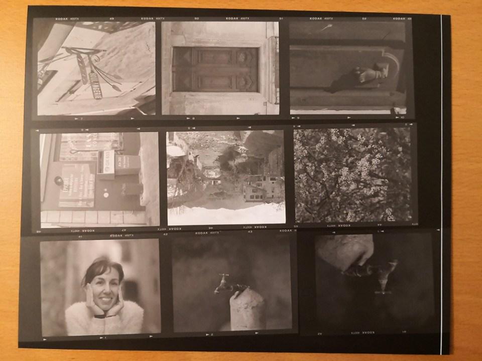 Planche contact sur papier photo