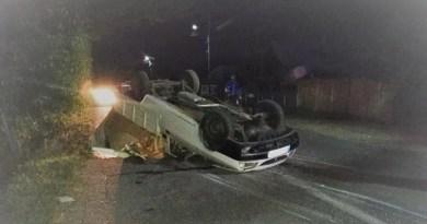 Mașina răsturnată în Argeș! Două victime!